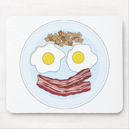 Tocino y huevos tapetes de ratones