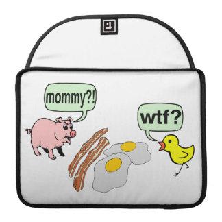 Tocino y pesadilla de los huevos fundas macbook pro
