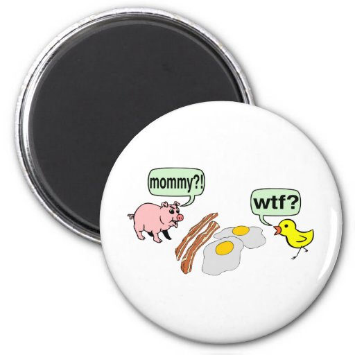 Tocino y pesadilla de los huevos imán