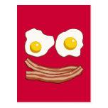 Tocino y postal de los huevos