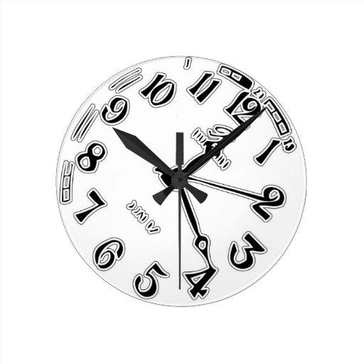 Tock de la señal hecho (blanco) relojes