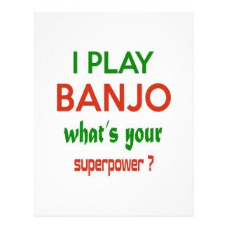 ¿Toco el banjo cuál es su superpotencia? Plantilla De Membrete