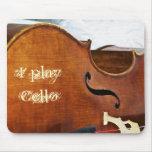 Toco el violoncelo alfombrilla de ratón