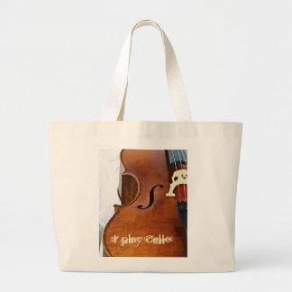 Toco el violoncelo bolsa tela grande