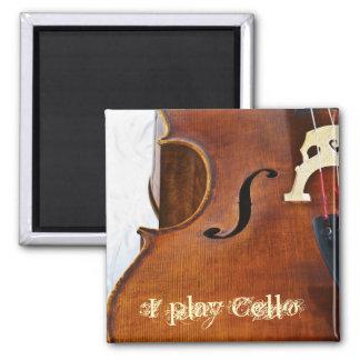 Toco el violoncelo iman para frigorífico