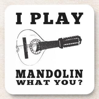 Toco la mandolina posavasos de bebida