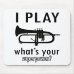 Toco la trompeta alfombrilla de raton