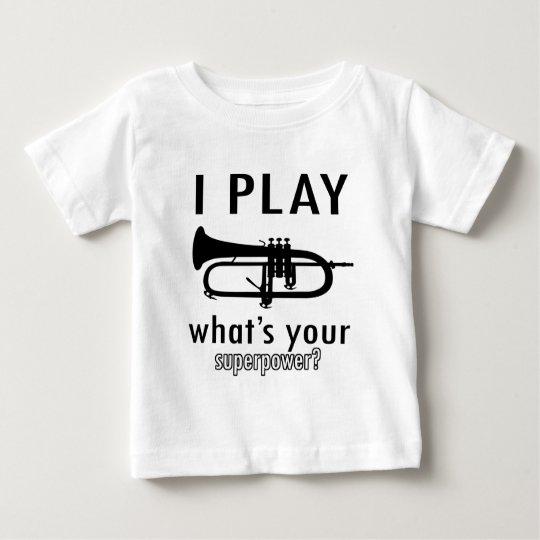 Toco la trompeta playera de bebé