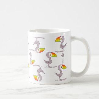 Toco style classic white coffee mug