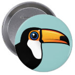 Toco Toucan 4 Inch Round Button