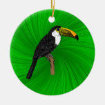 Toco Toucan Christmas Ornaments