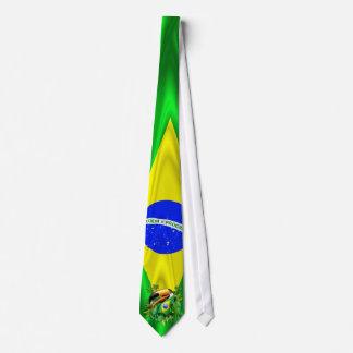 Toco Toucan con el lazo de la bandera del Brasil Corbata Personalizada