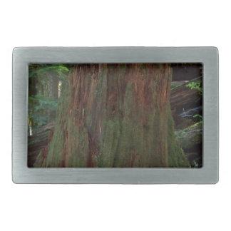 Tocón de árbol hebilla de cinturón rectangular