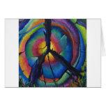 Tocón de la paz tarjetas