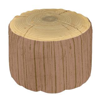 Tocón del tronco del árbol forestal del arbolado puf redondo
