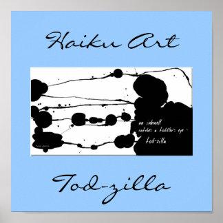 Tod-zilla Haiku Art Print
