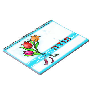 Toda תודה Hebrew Thank You Greeting Card Notebook