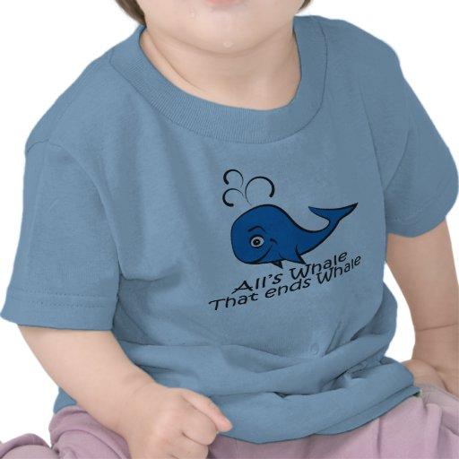 Toda ballena esa termina la ballena - camiseta div
