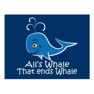 Toda ballena esa termina la ballena - tarjeta dive postal