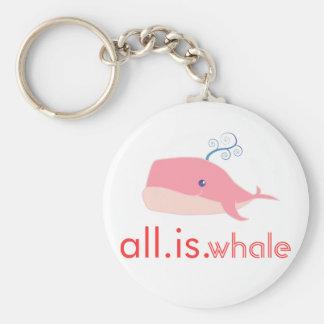 Toda es ballena (el rosa) llaveros