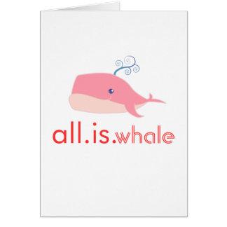 Toda es ballena (el rosa) tarjeton