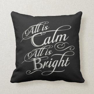 Toda es calma, toda es navidad brillante de la piz almohadas