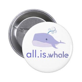 Toda es la ballena (azul) pin redondo 5 cm