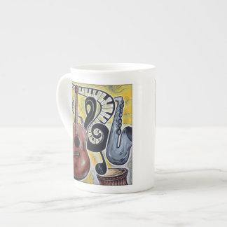 Toda esa taza de la porcelana de hueso del jazz taza de porcelana