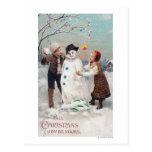 Toda la alegría del navidad sea la suya tarjeta postal