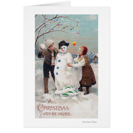Toda la alegría del navidad sea la suya tarjeton