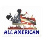 Toda la bandera americana se descolora completamen postal
