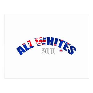 Toda la bandera de los blancos 2010 de Nueva Tarjeta Postal