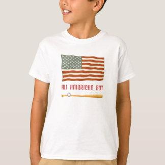 Toda la camiseta americana de la bandera del remeras