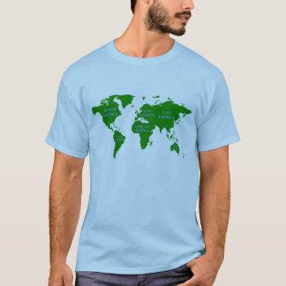 Toda la camiseta del mapa del mundo de América