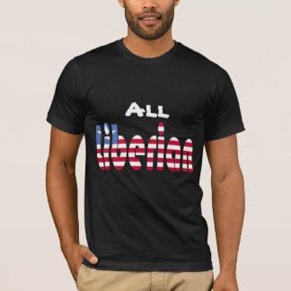 Toda la camiseta liberiana de la bandera