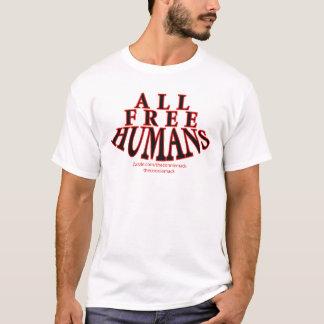 Toda la camiseta tonal de la raya de los seres