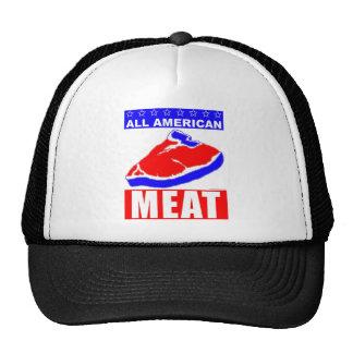 Toda la carne americana gorros bordados