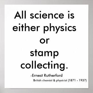 Toda la ciencia es la física o collecti del sello… póster