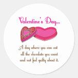 Toda la cita divertida de Valetine de los Etiqueta Redonda