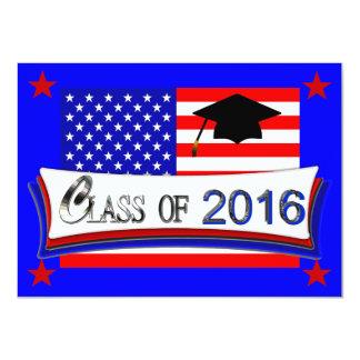 """Toda la clase americana de las invitaciones 2016 invitación 4.5"""" x 6.25"""""""