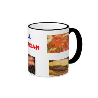 Toda la comida americana taza a dos colores