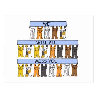 Toda la falta usted los gatos del dibujo animado postales