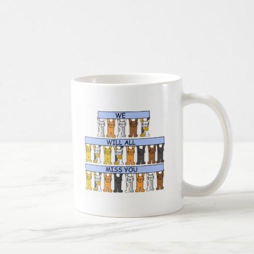 Toda la falta usted los gatos del dibujo animado tazas de café