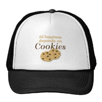 Toda la felicidad depende de las galletas gorra