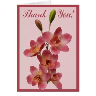 Toda la flor de la ocasión le agradece observar tarjeta de felicitación