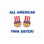 Toda la hermana gemela americana postal