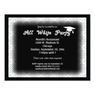 Toda la invitación blanca de la fiesta de