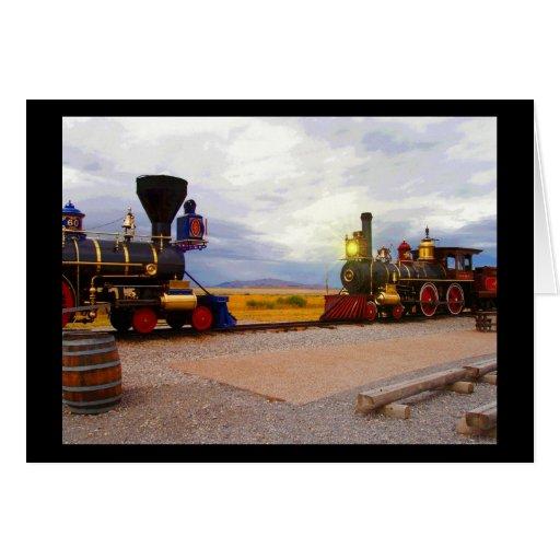 Toda la locomotora del ferrocarril felicitacion