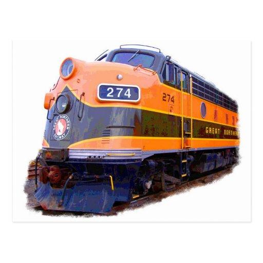 Toda la locomotora del ferrocarril postal