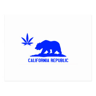Toda la mala hierba azul CA Postal